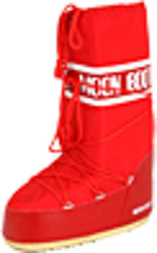 Tecnica Moon Boot Unisex Nylon Winter Boot,Red, 39-41 EU, 7-8.5 US Men's, 8-10 US Women's
