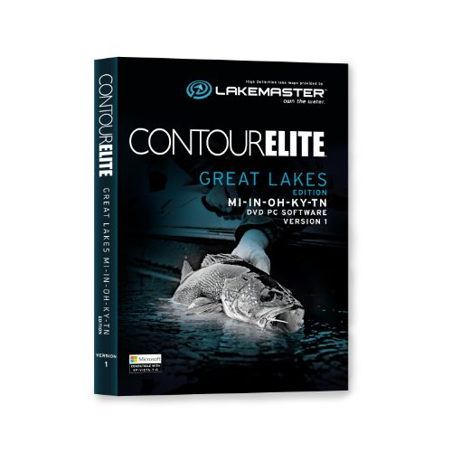 Lakemaster 6000161  Contour Elite Mapping Software - Great Lakes by LAKEMASTER