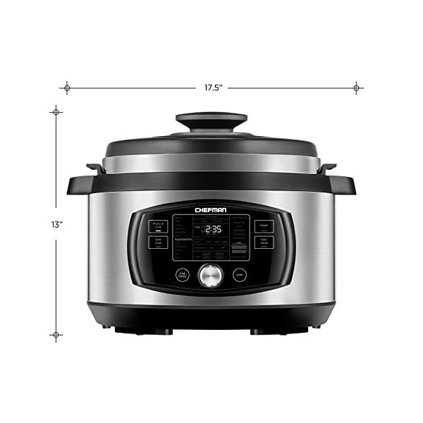 Chefman Multi-Function Oval Pressure Cooker 8 Quart Extra Large Programmable Multicooker, 18 Presets to Slow Cook, Sauté… 7