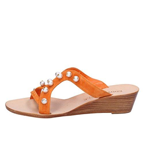 Camoscio Arancione Donna Eddy 37 Sandali Eu Daniele wYFnqSX0