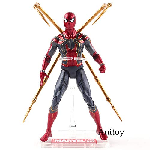 Spiderman in bag -Type1675 Avengers Infinity War Thanos Hulk Black Panther Spiderman Captain America Iron Man Action Figure Marvel Collectible Model Toys - Spider Man Marvel Legends