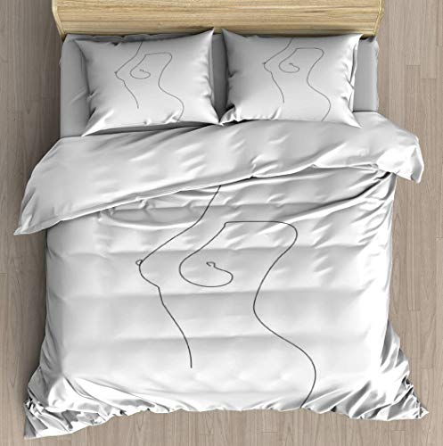 Fine Intimacy Duvet Cover Set Bed Sheet Pillowcase Bedding Cotton Ultra Soft 3D Pattern Unique Art Design Full Set Duvet Cover - King/Cal King
