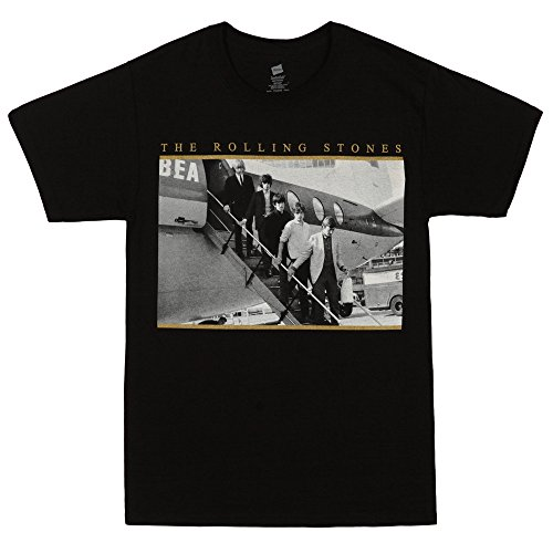 Rolling Stones Off A Plane Photo Adult T-shirt