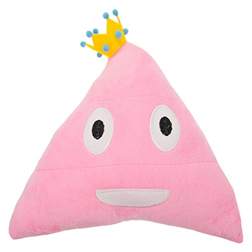 Royal Deluxe Plush Smiling Poop Emoji Pillow Prince Or Princess Soft Emoticons Cushion ()
