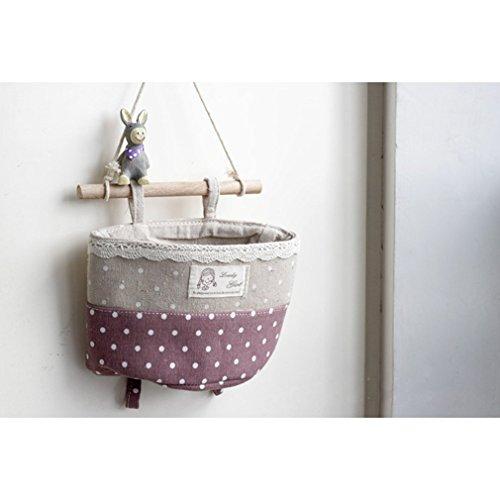 aidoo 40* 50cm faltbar rund Wäschekorb Korb Closet Spielzeug ordentliche Aufbewahrung Müllbeutel - Purple Small Size