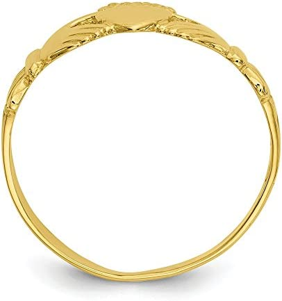 10k Yellow Gold Ladies Irish Claddagh Celtic Knot Band Ring Size 7.00 Fine Jewellery For Women Gifts For Her