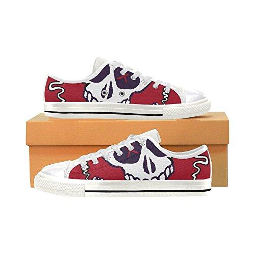 InterestPrint skull Classic Canvas Shoes for Women WUoifQGDy