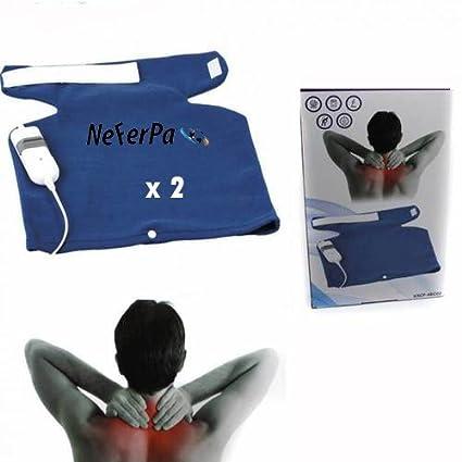 de Almohadilla electrica x2 calor espalda y cuello 3 niveles temperatura 60W 40x38