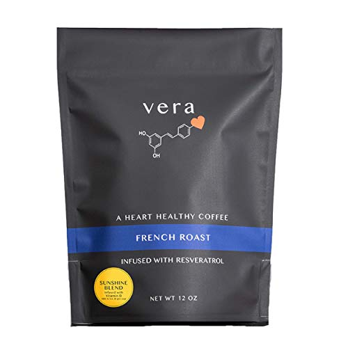 Sunshine Blend Coffee - Coffee Infused with Heart Healthy Antioxidants and Vitamin D - French Roast Ground Coffee - 12 oz