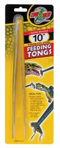 Zoo Med Stainless Steel Feeding Tongs, 10-Inch