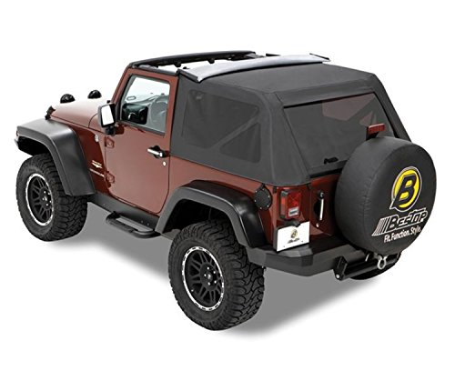 Bestop 54720-35 Black Diamond Supertop NX Complete Replacement Soft Top w//Tinted Windows for/1997-2006 Jeep Wrangler Except Unlimited
