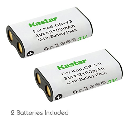 Crv3 Replacement (Kastar Battery 2-Pack for CR-V3, Canon PowerShot A60 70 75 300, Nikon Coolpix 600 700 800 950 990 2100 2200 3100 3200, Olympus, Pentax, Kodak, Sanyo, Pentax Digibino, Casion, Samsung Dig Max)