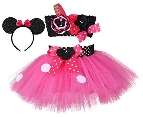 Tutu Dreams Girls Birthday Outfit Pink Polka Dots Princess Dresses Child Children (Pink, 6th Birthday) (Dreamgirls Outfits)