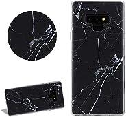 Marble Black Matte Silicone Phone Case for Samsung Galaxy Note 9,DasKAn Elegant Ultra Thin Slim Fit Soft Rubbe