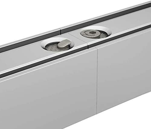 1 m 2x40-inch connectable Tracks 80 kg - 180lbs Sliding System SLIDUP 1100 for 1 partition Door