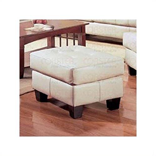 Coaster Home Furnishings Contemporary Ottoman, Cream