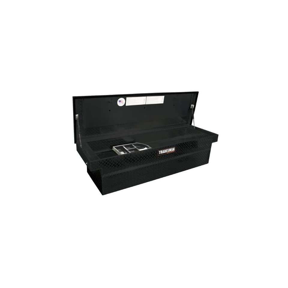 Lund/Tradesman 5400PB 70 Inch Full Size Aluminum Cross Bed Truck Tool Box with Single Foam Filled Lid and Push Button