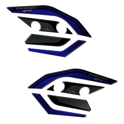 3D-sticker handbescherming compatibel met Yamaha Tracer 900 2015-2017 blauw