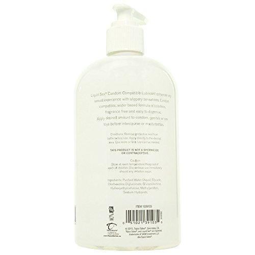Liquid Sex Condom Compatible Lubricant Gel, Pump Bottle, 16 Fluid Ounce
