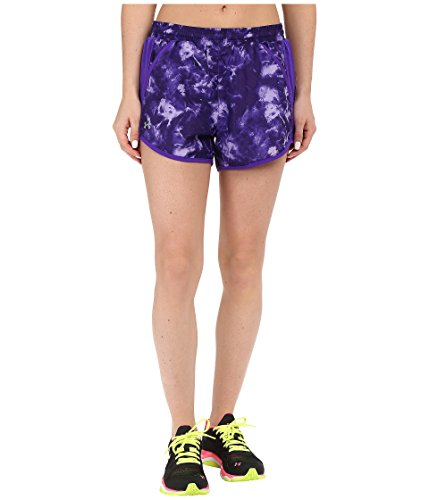 (Under Armour Women's Fly by Printed Run Shorts, Deep Orchid/Reflective, LG (US 12-14) X 3.5)