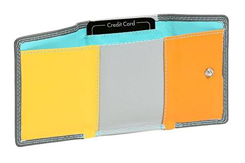 """Portafoglio piccolo colorato LEAS, Vera Pelle, multicolore - """"LEAS Multicolore-Serie"""""""