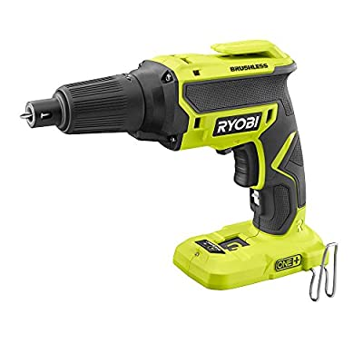 Ryobi 18-Volt ONE+ Heavy Duty Sturdy Durable Brushless Drywall Screw Gun (Tool Only), Up to 4,700 RPM, Brushless Motor Provides Maximum Performance!