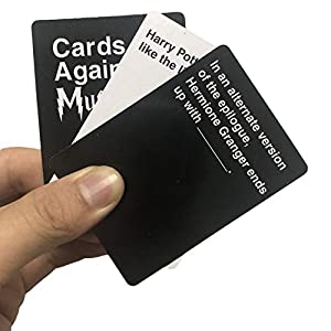 SUPETE Cards Against Mug. with 1356 Cards Contains 987 White Cards and 369 Black Cards for Maximum replayability a Party Game