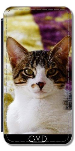 Leder Flip Case Tasche Hülle für Apple Iphone 7 / Iphone 8 - Katze Haustier Tierliebhaber by WonderfulDreamPicture