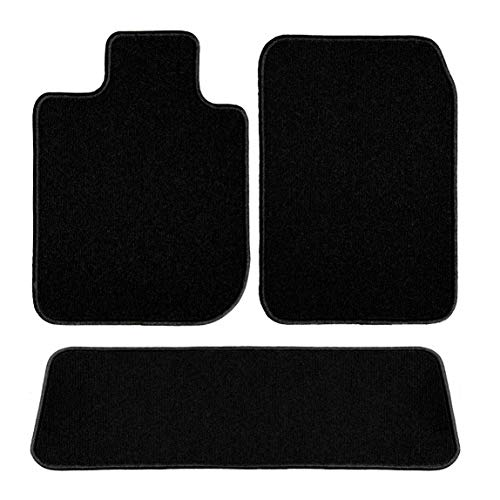 GG Bailey D4711A-S2B-BLK Two Row Set Custom Fit Floor Mats for Select Chevrolet S10 Models - Nylon Fiber (Black)