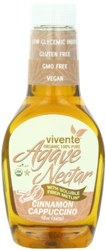 Vivente Organic Agave Nectar with Fiber, Cinnamon-Cappuccino Flavored, 12 Ounce