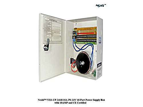 Nexhi NXS-CP-2418/10A-PS 24V 18 Port Power Supply Box with 10AMP & CE Certified for CCTV Camera, PTZ, IR Illuminators, Video Process, Access Control by Nexhi