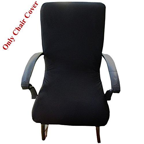 Loghot Computer Office Spandex Fabric Stretch Rotating Chair Covers Washable Durable Chair Cover (High Back, Black) by Loghot