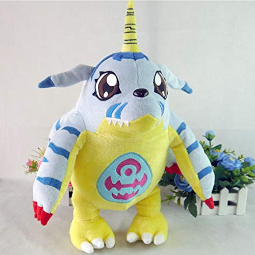 Digimon Digital Monsters Toys Anime Gabumon Plush Toy 45cm Short Plush Doll Pillow Cosplay Gift]()