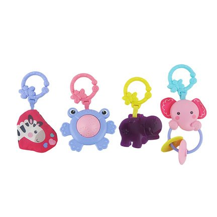 Fisher-Price Kick & Play Piano Gym Replacement Frog, Elephant, Crinkle, and Hippo Toy ()