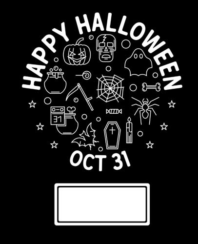 October 31 Composition Notebook: Happy Halloween - oct 31 Composition Notebook Journal Diary with Dot Grid, 140 pages, 7.5