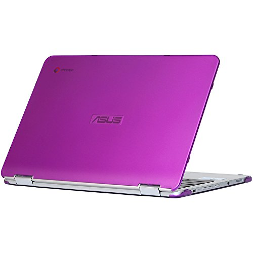 mCover iPearl Hard Shell Case for 12.5-inch ASUS Chromebook Flip C302CA Series Laptop - Purple