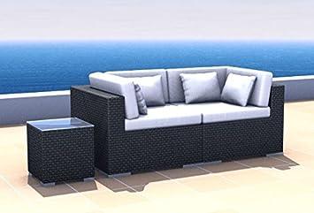Amazon.de: Gartenmöbel Rattan Lounge Espace Start 1 - 2 Sitze inkl ...