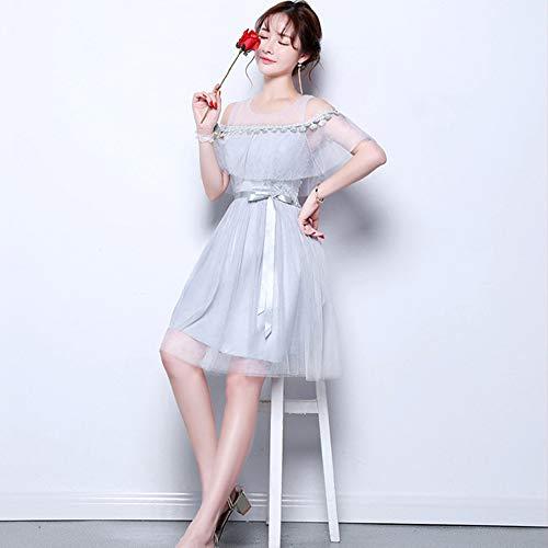 f00c80a887ae 5 Vestito Da D onore Abito Festa Dazisen Damigella Grigio Per Stili  Elegante Sera Disponibili DonnaFormale ...