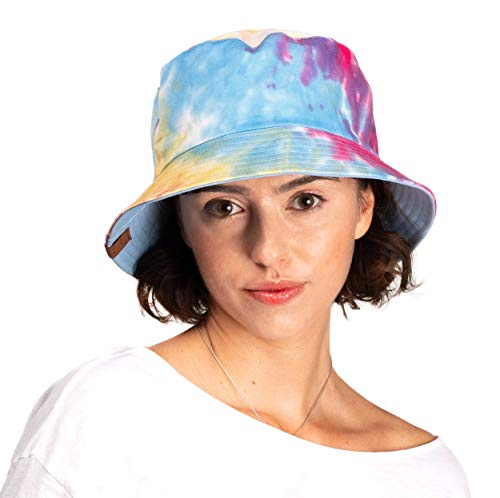 - C.C Exclusives Galaxy Bucket Hat Cotton Reversible Tie Dyed Boonie Cap(ST-2176) (Hot Pink)