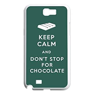 HOT SALE Best Galaxy Case Popular Funny 'KEEP CALM AND' Saying-Slogan Design for Samsung Galaxy Note 2 N7100 Hard Case (white)
