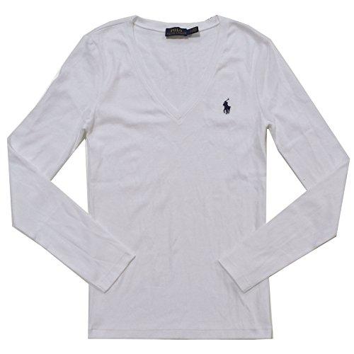 Polo Ralph Lauren Womens Perfect V Neck T-Shirt (X-Large, - Ralph Polo Lauren Ladies