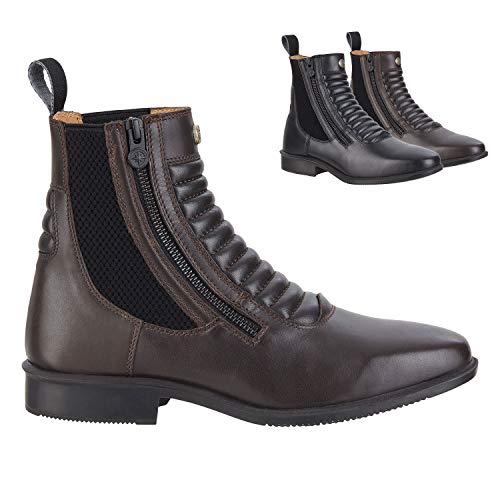 Stiefelette »LEGACY SZ MILANO« mit seitlichem Reißverschluss. Bequeme Reitschuhe aus Echtleder u. OrthoLite Sohle | Tolle Passform | Stiefel-Schuh Größen 37-46 | Farbe: Schwarz & braun