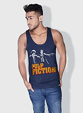 Creo Pulp Fiction Movie Posters Tanks Tops For Men - M, Blue