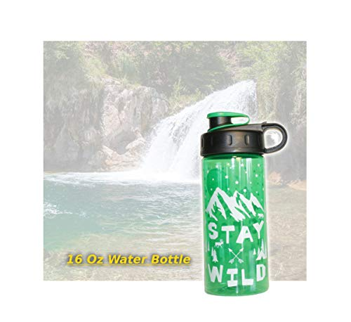 COOL GEAR Chug Stay Wild 16 Oz Water Bottle