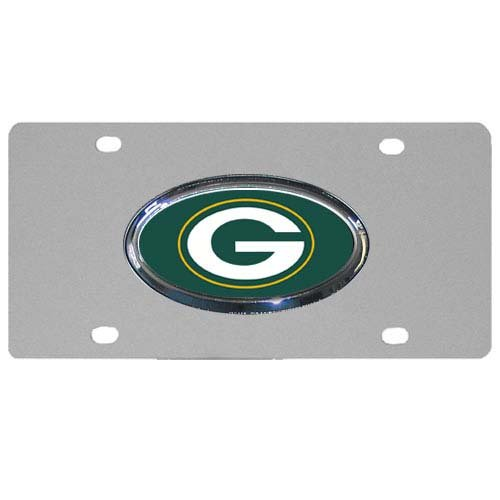 NFL Green Bay Packers Steel License Plate with Raised Logo by Siskiyou