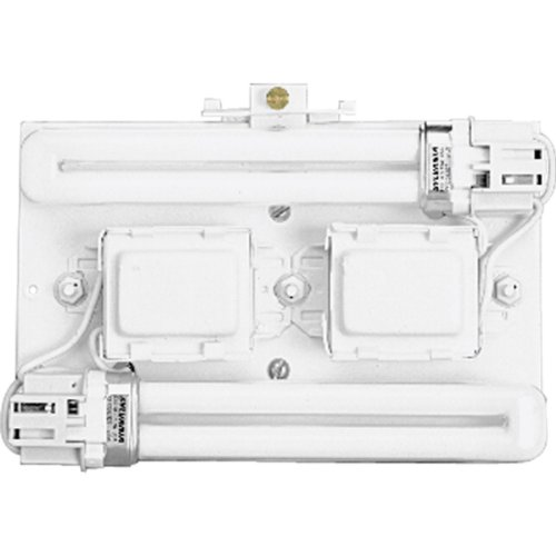 Progress Lighting P7200-30EB Surface Mount Backplate Mounts Directly onto Junction Box with Standard 120 Volt High Power Factor Electronic Ballasts, White ()