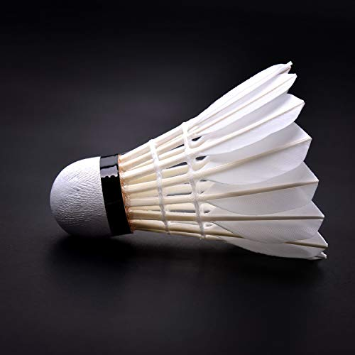 KEVENZ 12-Pack Advanced Goose Feather Badminton Shuttlecocks,Nylon Feather Shuttlecocks High Speed Badminton Birdies Balls with Great Stability and Durability (White) by KEVENZ (Image #5)