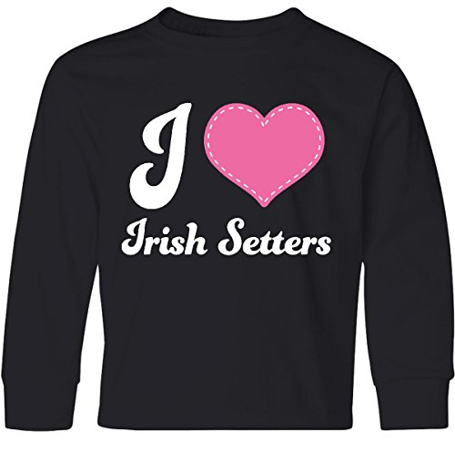 inktastic Heart Irish Setters Youth Long Sleeve T-Shirt Youth X-Large (Setter Youth T-shirt)