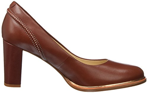 Clarks Damen Ellis Edith Pumps Rot (pelle Ruggine)