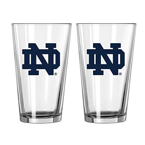 Notre Dame Gear (NCAA Notre Dame Fighting Irish Game Day Pint, 16-ounce, 2-Pack)